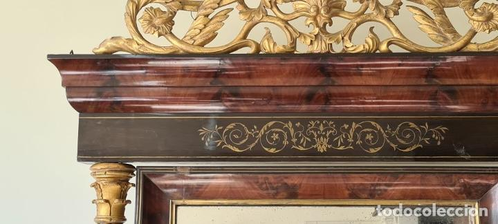 Antigüedades: CONSOLA ESTILO FERNANDO VII. MADERA DE PALISANDRO. MARQUETERIA DE LATÓN. SIGLO XIX. - Foto 5 - 238797410