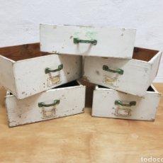 Antigüedades: LOTE 5 CAJONES DE MADERA, ANTIGUO COLMADO DE LOS AÑOS 1930. Lote 238800005