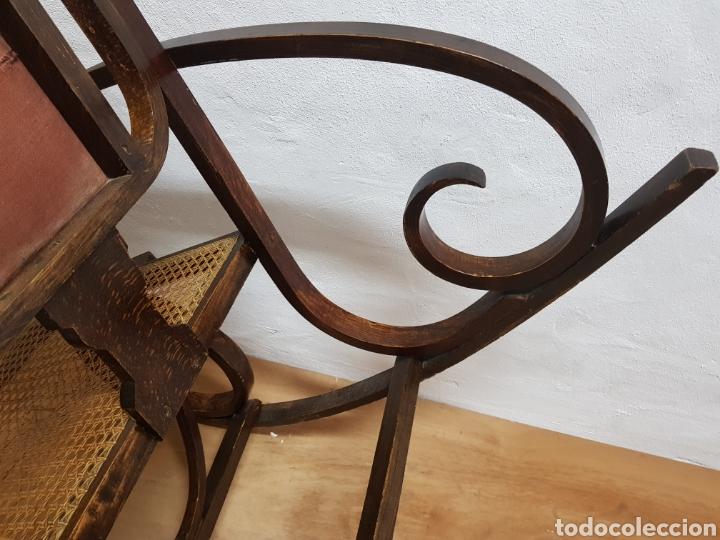 Antigüedades: Mecedora , tipo Tonet antigua - Foto 6 - 238801690
