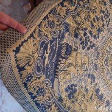 Antigüedades: MANTEL O TAPIZ O TAPETE DE MESA EN SEDA Y ALGODON. Lote 239055055