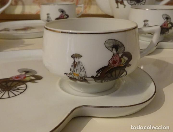 Antigüedades: EXQUISITO JUEGO DE CAFÉ / TE DE PORCELANA. TAZAS CÁSCARA DE HUEVO. MARCA ARITA CHINA. JAPAN - Foto 2 - 239353225