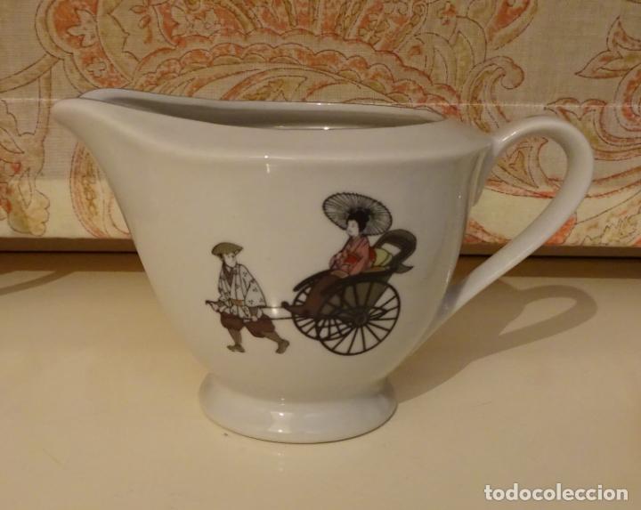 Antigüedades: EXQUISITO JUEGO DE CAFÉ / TE DE PORCELANA. TAZAS CÁSCARA DE HUEVO. MARCA ARITA CHINA. JAPAN - Foto 4 - 239353225