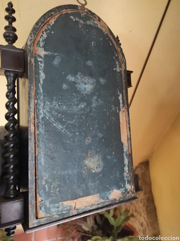 Antigüedades: Antigua Urna de Madera Acristalada - Tríptico de San José con el Niño Jesús - - Foto 17 - 239368150