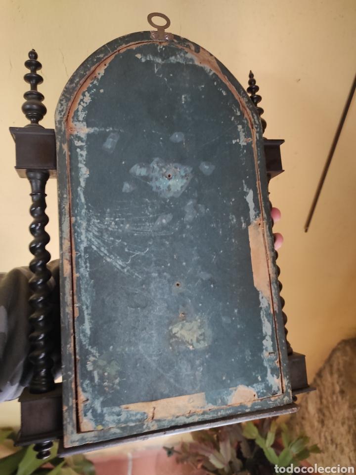 Antigüedades: Antigua Urna de Madera Acristalada - Tríptico de San José con el Niño Jesús - - Foto 18 - 239368150