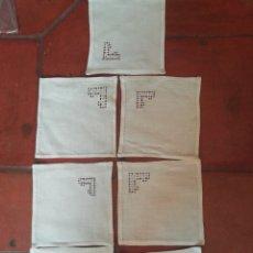 Antigüedades: SERVILLETAS DE HILO. Lote 239374260