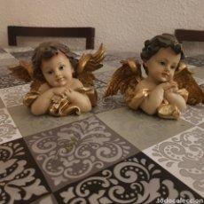 Antigüedades: ANGELITOS RESINA OLOT 10 CM. Lote 239383120