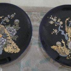Antigüedades: 2 PLATOS PORCELANA CHINA. Lote 239386850