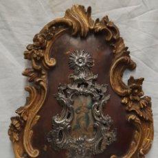 Antigüedades: ANTIGUA PILA BENDITERA DE PLATA SIGLO XIX. Lote 239414455