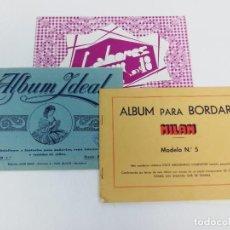 Antigüedades: LOTE DE 3 CUADERNOS ALBUM PARA BORDAR LABORES -MILAN-IDEAL. Lote 239441545