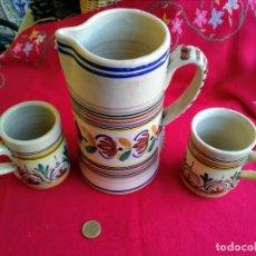 Antigüedades: JUEGO ANTIGUO DE JARRAS SANGUINO. Lote 239457965