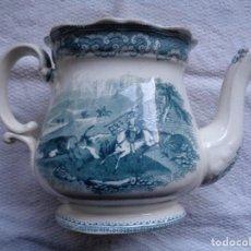 Antiquités: ANTIGUA TETERA DE LOZA DE LA FÁBRICA DE CARTAGENA. SIGLO XIX. 25 X 16 CM. SELLO INCISO Y ESTAMPADO.. Lote 239501740
