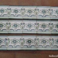 Antigüedades: AZ-38A 15 AZULEJOS VALENCIANOS MODERNISTAS ART NOUVEAU PRINCIPIOS 1900. Lote 239521230