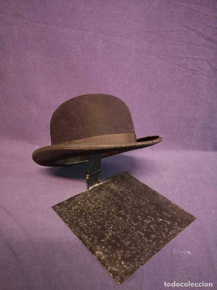 SOMBRERO BOMBIN INGLES (Antigüedades - Moda - Sombreros Antiguos)