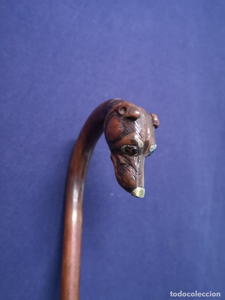Antigüedades: BASTON ANTIGUO EN MADERA - Foto 9 - 239583565