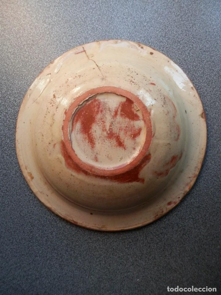 Antigüedades: ANTIGUO CUENCO DE CERÁMICA DE LA BISBAL GERONA - 18 CENTÍMETROS DE DIÁMETRO - Foto 2 - 239603635