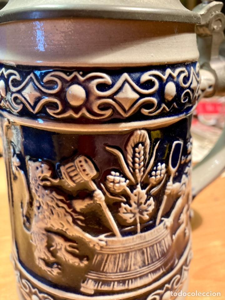 Antigüedades: Antigua Jarra de cerveza, Original Gerzit, Alemana. - Foto 6 - 239613405