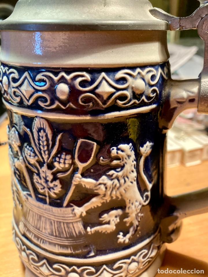 Antigüedades: Antigua Jarra de cerveza, Original Gerzit, Alemana. - Foto 7 - 239613405