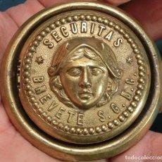 Antigüedades: ANTIGUA Y ORIGINAL PIEZA - BRONCE - SECURITAS - S.G.D.G. - BOCALLAVE - REMATRE - EMBELLECEDOR - RARO. Lote 239672770