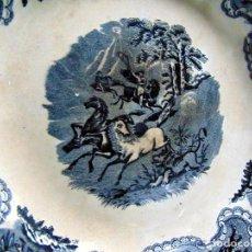 Antigüedades: FUENTE REDONDA, FABRICA DE LA AMISTAD CARTAGENA, 30,5 CM DE DIAMETRO. SIGLO XIX .W. Lote 239673600