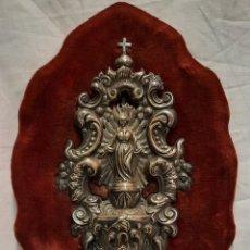 Antigüedades: ANTIGUA PILA BENDITERA DE PLATA SIGLO XIX. Lote 239717140