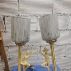 Antigüedades: PAREJA DE LÁMPARAS DE MESA. Lote 239730800