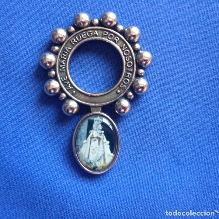 PEQUEÑO ROSARIO UN SOLO MISTERIO VIRGEN DE LA FUENSANTA --PARA DEDO O DE MONJA -- METAL VER FOTOS (Antigüedades - Religiosas - Rosarios Antiguos)