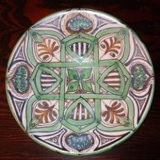 Antigüedades: PLATO DE CERAMICA - DOMINGO PUNTER - TERUEL. Lote 239799430