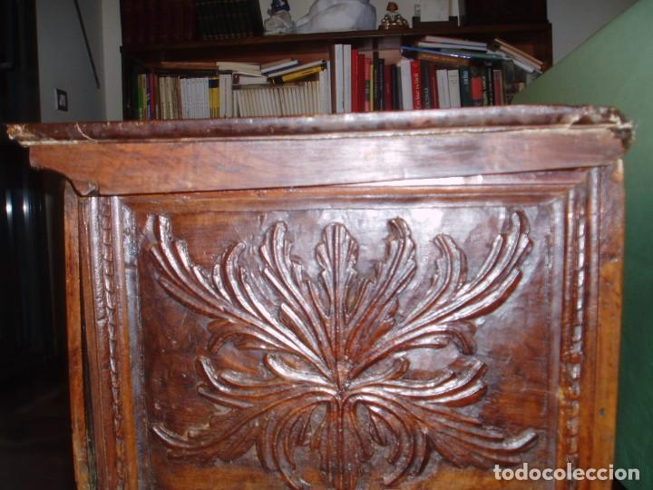 Antigüedades: Arca de novia de Lleida siglo XVIII . En madera de nogal - Foto 7 - 239875330