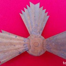 Antigüedades: ANTIGÜA POTENCIA, CORONA O RESPLANDOR DE LATÓN. DIM.- 14X10 CMS.. Lote 239880375