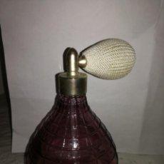 Antigüedades: PERFUMERO DE CRISTAL SOPLADO HAND MADE. Lote 239982180