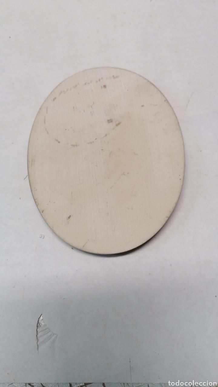 Antigüedades: Placa ovalada relieve resina - Foto 2 - 170615985