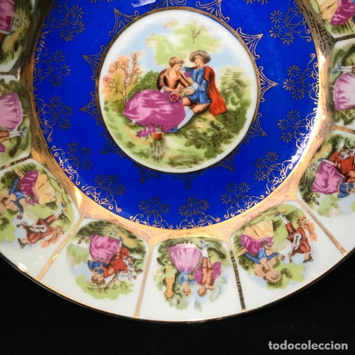 Antigüedades: Gran plato hondo o fuente redonda del sello o marca de porcelana japonesa EIHO. - Foto 2 - 240026835