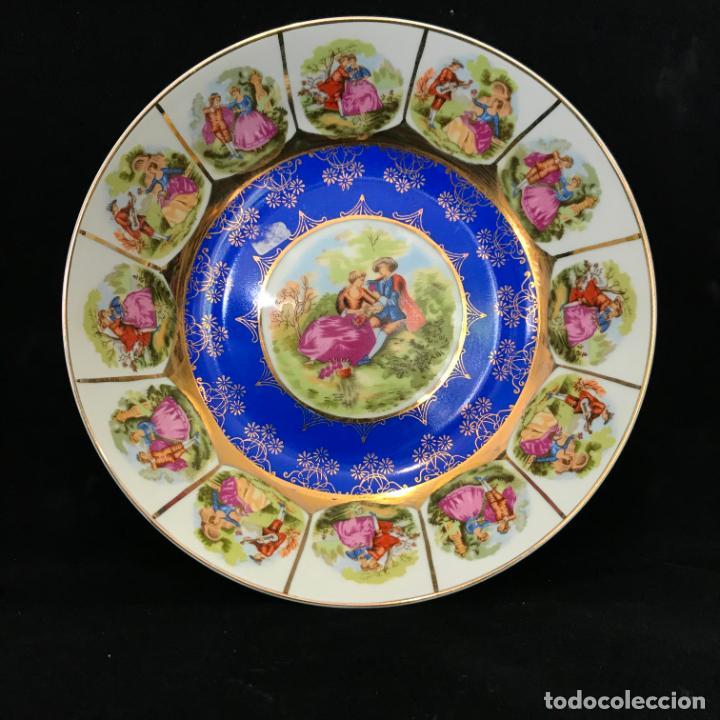 GRAN PLATO HONDO O FUENTE REDONDA DEL SELLO O MARCA DE PORCELANA JAPONESA EIHO. (Antigüedades - Porcelana y Cerámica - Japón)