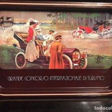 """Antigüedades: JUEGO DE BANDEJAS VINTGE SERIGRAFIADAS """" GRANDE CONCORSO INTERNAZIONALE DI TURISMO"""". Lote 240080130"""