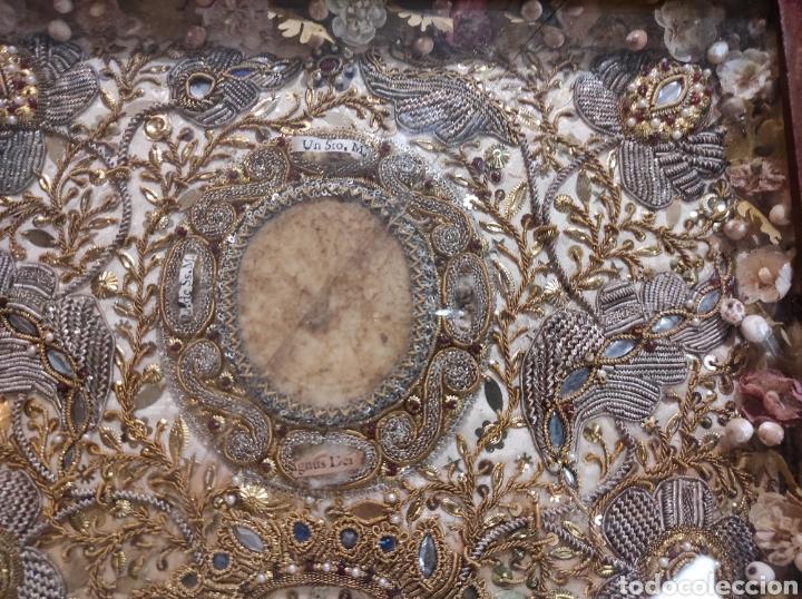 Antigüedades: Antiguo Relicario Enmarcado XVIII - Foto 3 - 240125005