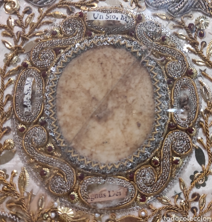 Antigüedades: Antiguo Relicario Enmarcado XVIII - Foto 4 - 240125005