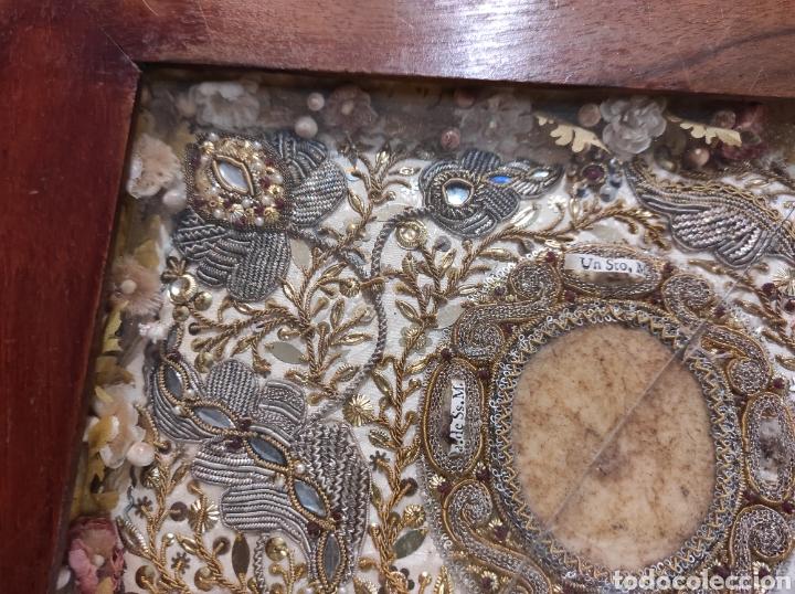 Antigüedades: Antiguo Relicario Enmarcado XVIII - Foto 8 - 240125005