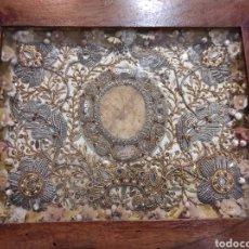 Antigüedades: ANTIGUO RELICARIO ENMARCADO XVIII. Lote 240125005
