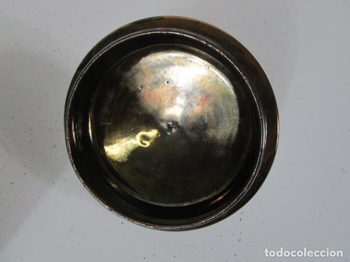 Antigüedades: Bote con Tapa - Bombonera, Caramelero - Cerámica Metálica Bristol, Inglaterra - Foto 12 - 240150815