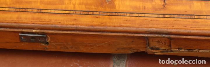 Antigüedades: ANTIGUO ESPEJO OVALADO BISELADO CON MARCO DE MADERA CON MARQUETERIA – GRANDES DIMENSIONES 1,45 CM - Foto 5 - 240190075
