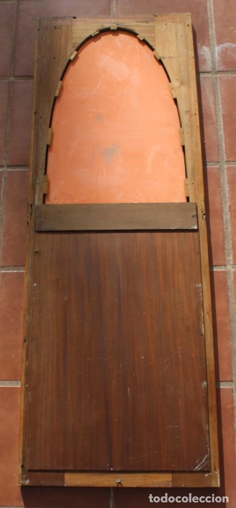 Antigüedades: ANTIGUO ESPEJO OVALADO BISELADO CON MARCO DE MADERA CON MARQUETERIA – GRANDES DIMENSIONES 1,45 CM - Foto 7 - 240190075