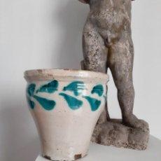 Antigüedades: ANTIGUA ORZA MANTEQUERA DE TRIANA. CERÁMICA POPULAR S.XIX. Lote 240215410