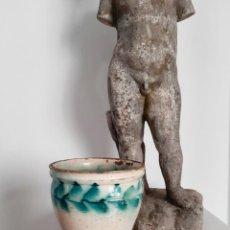 Antigüedades: ANTIGUA ORZA MANTEQUERA DE TRIANA. CERÁMICA POPULAR S.XIX. Lote 240216270