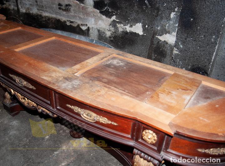 Antigüedades: Gran consola antigua de finales del S.XIX - Mármol de una sola pieza - Foto 14 - 240218435