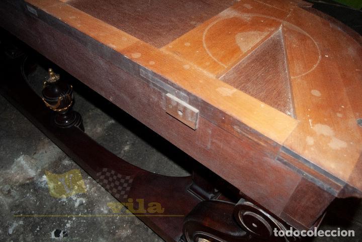 Antigüedades: Gran consola antigua de finales del S.XIX - Mármol de una sola pieza - Foto 18 - 240218435