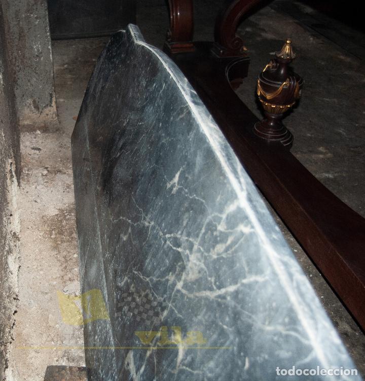 Antigüedades: Gran consola antigua de finales del S.XIX - Mármol de una sola pieza - Foto 21 - 240218435