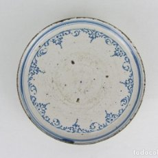 Antiquités: FRUTERO O SALVILLA EN CERÁMICA AZUL DE TALAVERA INFLUENCIA ALCOREÑA - S. XVIII. Lote 240258320