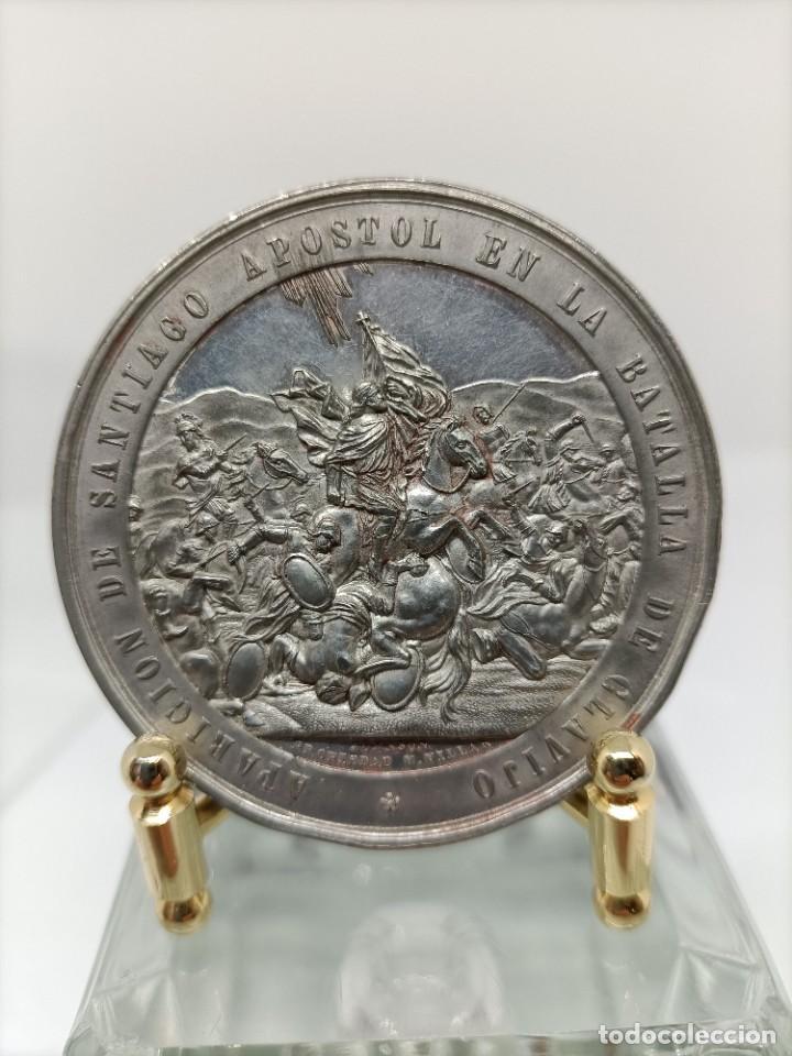 MONEDA PLATA SANTIAGO DE COMPOSTELA. (Antigüedades - Platería - Plata de Ley Antigua)