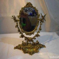 Antigüedades: ESPEJO METAL FUNDICION. Lote 240277335