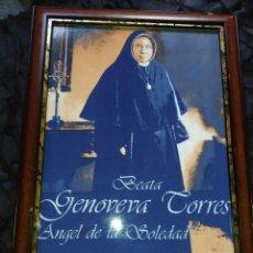 Antigüedades: CUADRO AZULEJO BEATA GENOVEVA TORRES ÁNGEL DE LA SOLEDAD UNICO?. Lote 240280180